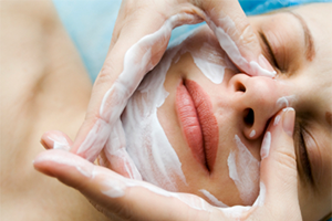 Person getting a facial
