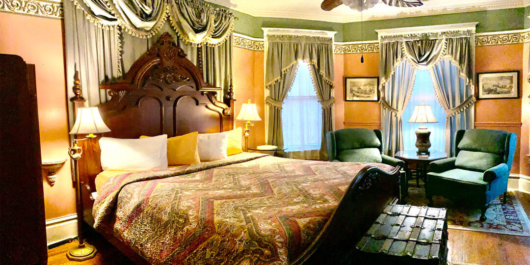 Governor's king room at The Gables Inn