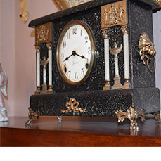 Antique Mantel Clock at The Gables Inn