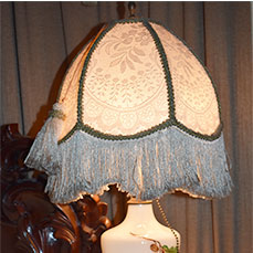 Victorian fringe lamp at The Gables Inn